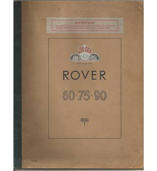 "Rover ""60"", ""75"" and ""90"" Saloons"