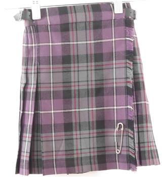 James Pringle Weavers Size 3 - 4 Years Purple Check Pure New Wool Kilt