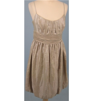 BNWT London Times, size 8 golden champagne dress