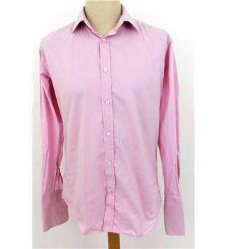 "Hawes and Curtis Size 15.5"" Collar Candy Cane Pink Shirt"