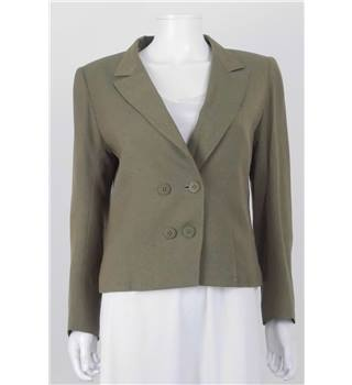 Vintage Circa 1980s Size 10 Chloe Green Tailored Double Breasted Jacket