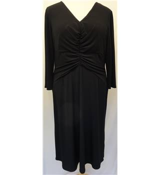 Kaleidoscope - Size: L - Black - Calf length Dress