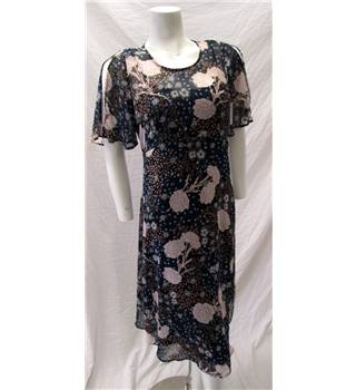 M&S Size 10 Floral Summer Dress M&S Marks & Spencer - Size: 10 - Blue