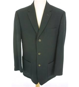 "Austin Reed Size: Medium, 40"" chest, reg fit Dark Navy Blue Smart/Stylish  Wool  Designer Single Breasted Jacket"