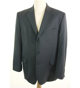 "Ben Sherman Size: XS, 34"" chest, tailored fit Black With Jacquard Weave Pinstripe Stylish Wool Designer Single  Breasted Jacket."