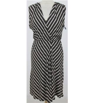 BNWT Ella Moss size: S brown and beige striped dress