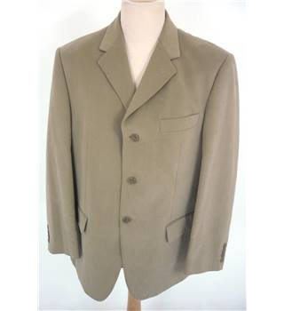 "M & S  Size: M, 40"" chest, regular fit Sandstone Brown Smart/Stylish Cotton Single  Breasted Jacket."