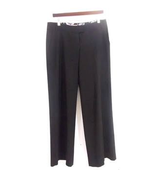 Whistles Size 10 Black Wide Leg Trousers