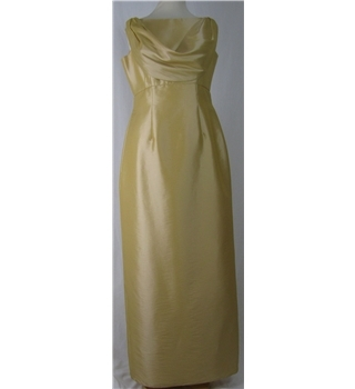 Emily Fox, size S, pale gold evening dress