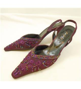 Farfalla - Size: 7 - Pink Satin and Sequins - Heeled shoes