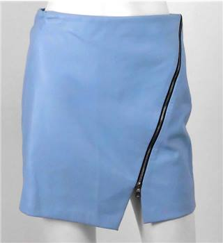 Zara Basic Size XS Pastel Blue Zip Mini Skirt Zara - Size: XS - Blue - Mini skirt