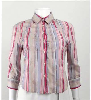 Firetrap XS Coral Striped Blouse.