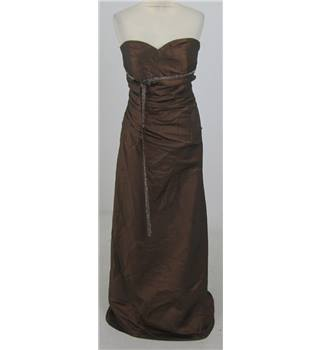 D'Sage Size:16 brown strapless evening dress