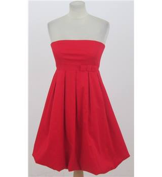 Precious A-Wear size: 8 red strapless puffball dress