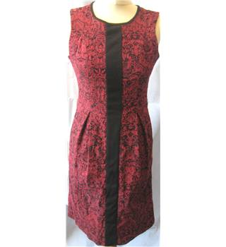 PRINCIPALS - Size: 10 - Red/Black - Sleeveless- Cotton Blend Dress