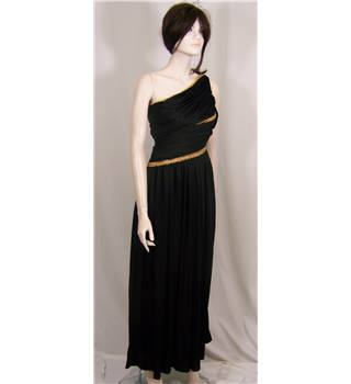 Vintage Frank Usher Black Asymmetrical Dress Size 6