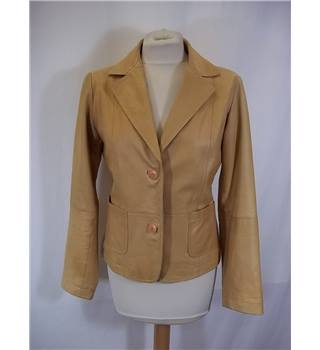 F&Co - Size: One size: 40 - Carmel Leather Jacket