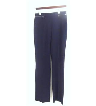Marks & Spencer Collection Navy Straight Leg Trousers No Size but Waistband Measures 31""