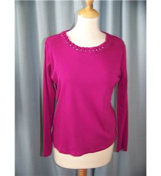 Isle at EWM Edinburgh Woollen Mill - Size: S - Pink - Jumper