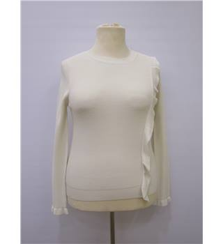 BNWT M&S Size 10 White Ladies' Top M&S Marks & Spencer - Size: 10 - White - Sweater