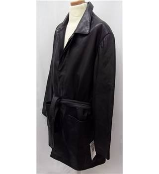 BNWT - Fahmina Enterprises Islamabad - Size: XL - Black - Leather COAT - BNWT