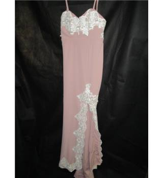 Love Triangle long prom / party dress in cocktail pink size 8