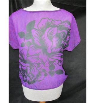 Jane Norman purple black top size 8 UK
