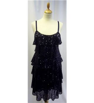 Monsoon - Size: 8 - Midnight Blue -  Sequined Dress