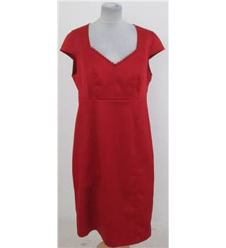 South size: 16 red knee length dress