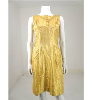 The Female Revolution Collection: Vintage 1960s A. Bullough Size 6/8 Honeydew Yellow/Gold Cocktail Dress