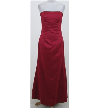 Dessy Collection size: 6 red dress with back embellishment