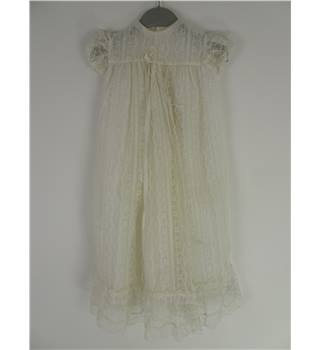 Vintage Size: 1-1.5 Years White Girl Christening Gown