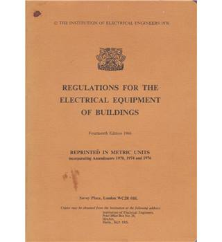 Regulations for the Electrical Equipment of Buildings
