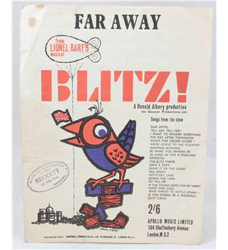 "The Day After Tomorrow: Sheet Music of the Song from Lionel Bart's ""Blitz!"""