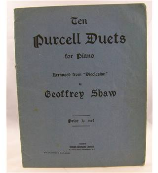 Ten Purcell Duets for Piano arranged from Dioclesan