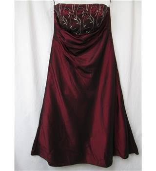 Ariella of London - Size: 14 - Burgundy - Strapless Prom dress