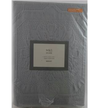 NWOT M&S Home Grey Embossed Single Bedest