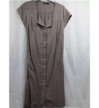 Autograph Grey Belted Dress Size 12 Autograph - Size: 12 - Grey - Sleeveless