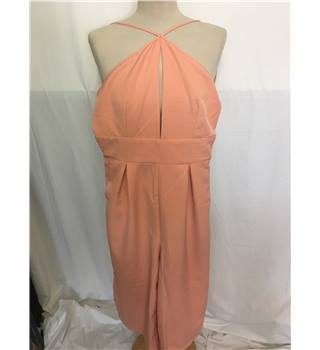 Salmon pink halter neck catsuit Miss Guided - size 10 BNWT