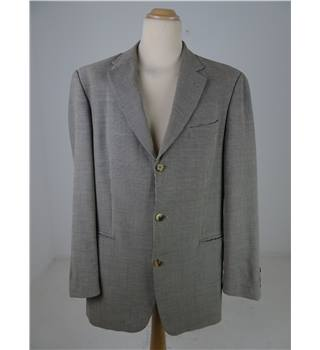 "Hugo Boss Size 40"" Chest Beige and Black Patterned Jacket"