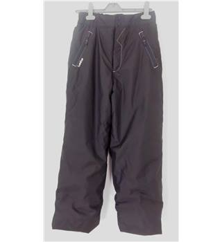 "Wed'ze (Decathlon Creation) Size: 14-15 Years, 28"" waist, 27"" inside leg Dark Grey Ski/Snow Thermal Lined  Pants/Trousers"