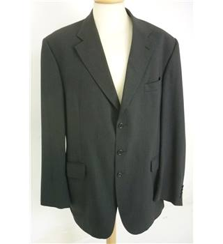 "Aquascutum Size: Large, 44"" chest, reg fit Black Smart/Stylish  Wool Designer Single Breasted Jacket."