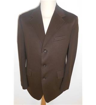 "H G Size: M, 40"" chest, reg fit Coffee Brown Smart/Stylish Crimplene Single Breasted Jacket."