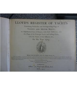 Lloyd's Register of Yachts 1915