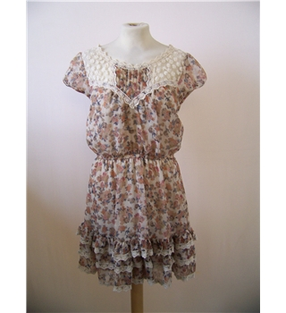 Miso size: 10 beige floral mini dress