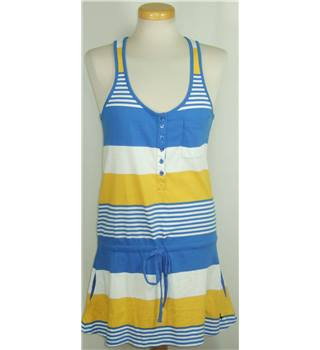Jack Wills size 8 blue and yellow top