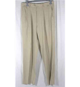 "Nat Nast light beige Trousers 30"" waist"