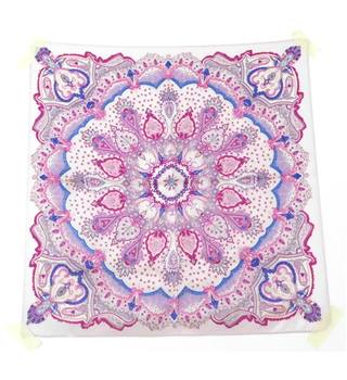 Pink and Purple Paisley Silk Scarf