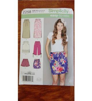 Simplicity sewing pattern 2258