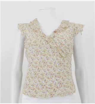 Naughty Size 12 Cream Floral Blouse